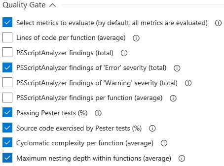 Select Code Metrics